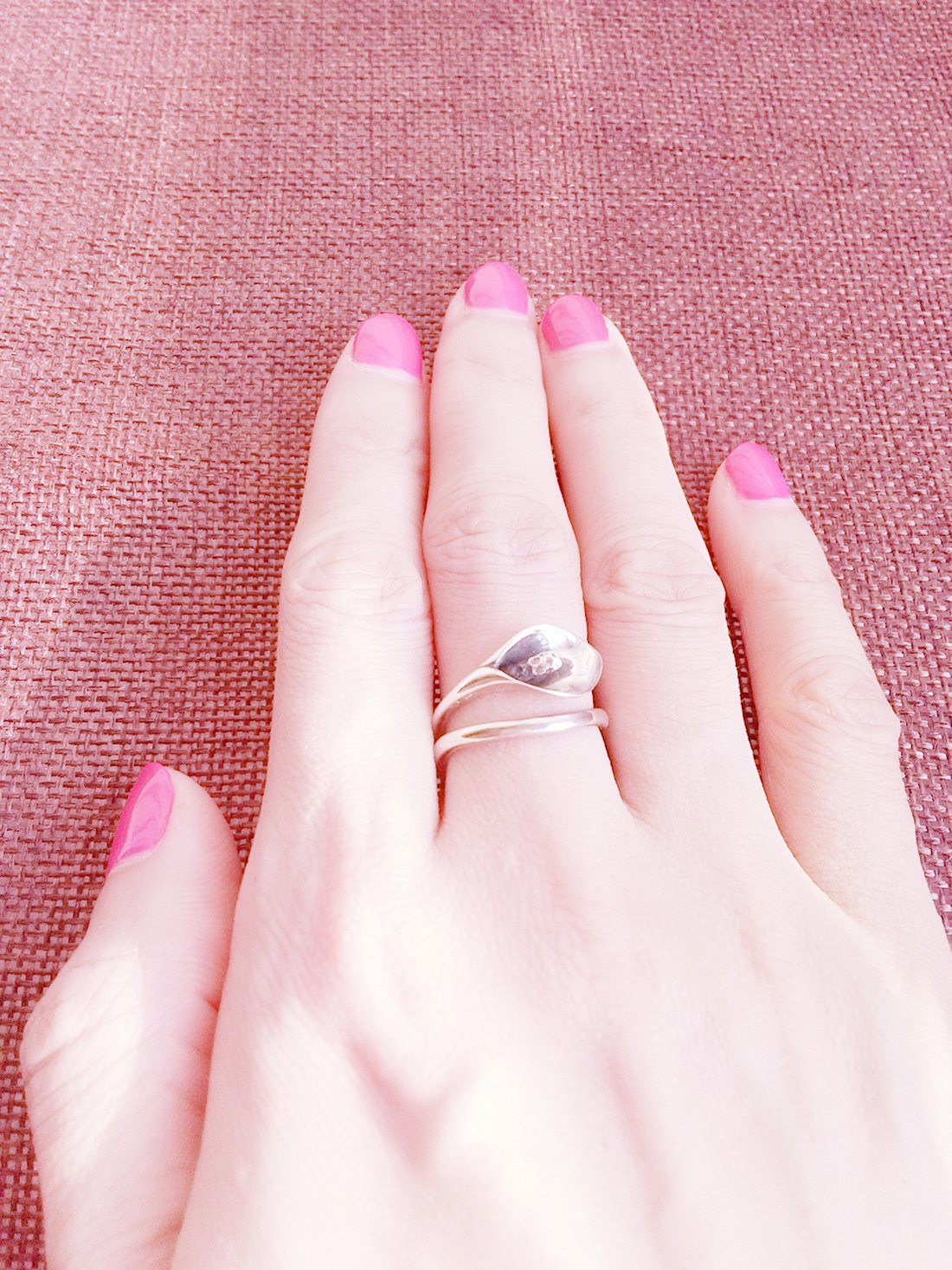 Rings Silver 925 For Women Girls Rings Silver Band Antique Rings For Her With 925 Stamp For Sensitive Skin Calla Lily Flower Vintage Genuine 925 Sterling Silver Rings Adjustable Size Good Gift by SHEIS LOVING (Image #6)