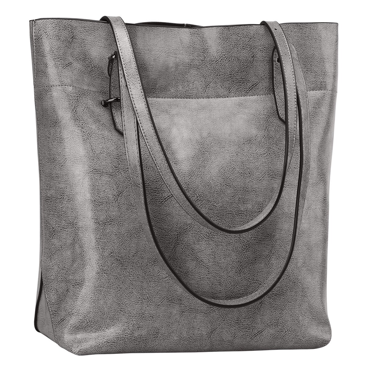 3445703f8104d S-ZONE Vintage Genuine Leather Tote Shoulder Bag Handbag Big Large ...