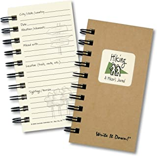 product image for Hiking, A Hikers Journal - MINI Kraft Hard Cover (prompts on every page, recycled paper, read more...)
