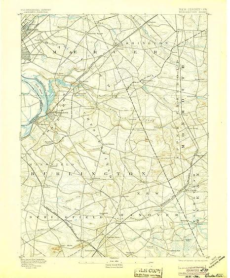 Amazon.com : YellowMaps Bordentown NJ topo map, 1:62500 ... on