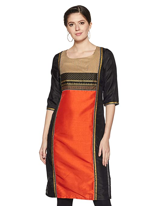 W for Woman Women's Straight Kurta Women's Kurtas & Kurtis at amazon