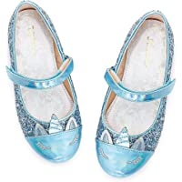 Furdeour Girls Dress Shoes Mary Jane Flower Wedding Party Bridesmaids Shoes Glitter Princess Ballet Flats for Kid…