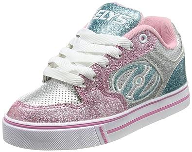 c4be14fd6fbb7 Heelys Motion Plus, Chaussures de Tennis Fille, Argent (Silver Pink Light  Blue