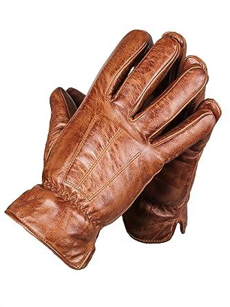 Handschuhe Camping & Outdoor Nappaleder Damen Handschuhe Lederhandschuhe mit Druckknopf gefüttert  S M L