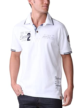 Tom Tailor - Polo - para Hombre Blanco X-Large: Amazon.es: Ropa y ...