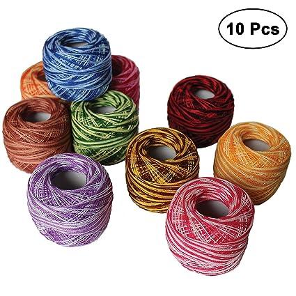 Amazon Kurtzy 10 Pcs Crochet Threads Size Of 8 20g 170m