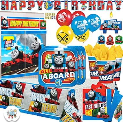 Table Cover 32 Napkins Thomas The Train All Aboard 9 Plates 16 7 Plates 16 1