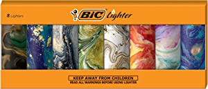BIC Special Edition Marble Series Lighters, Set of 8 Lighters