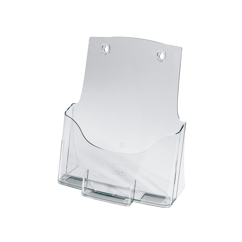 SIGEL LH111 Porta-depliant da tavolo 4 pz. in acrilico,con 1 tasca per A4 e 1 tasca per biglietti da visita