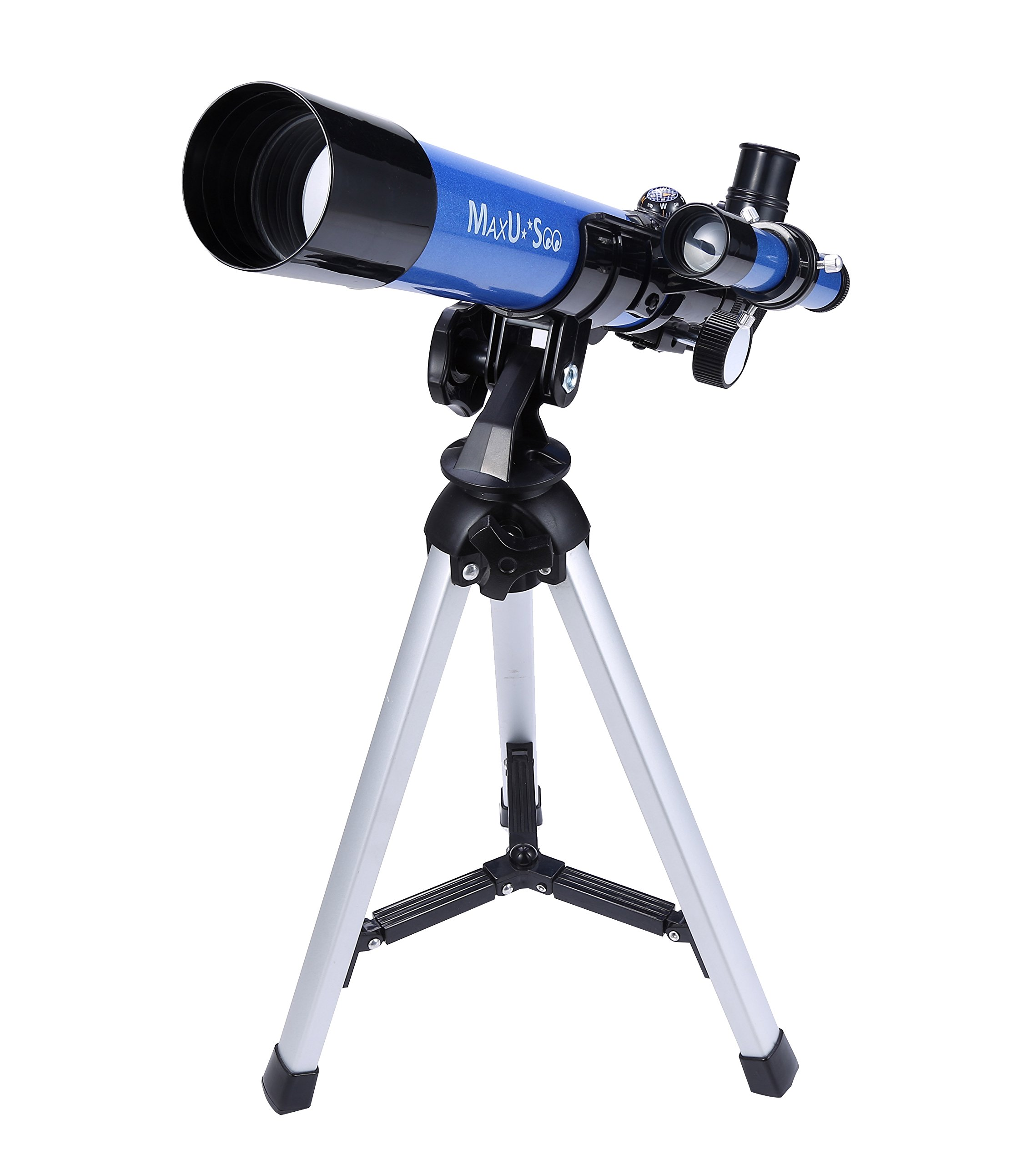MaxUSee Kids Telescope 400x40mm with Tripod & Finder Scope, Portable Telescope for Kids & Beginners, Travel Scope with Moon Mirror, Stars & Moon map Included by MaxUSee