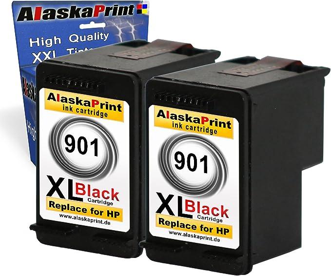 2x Druckerpatronen Ersatz Für Hp 1x 901 Xl Black 20ml Ersatz Für Hp Cc654ae 901 Xl Hp901xl Schwarz Bk Bürobedarf Schreibwaren
