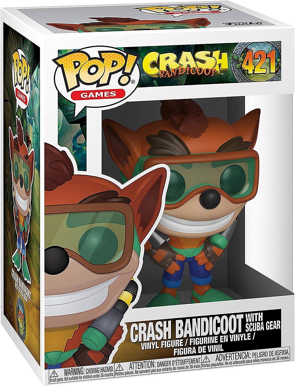 Pop! Crash Bandicoot - Figura de Vinilo Crash Bandicoot with Scuba ...
