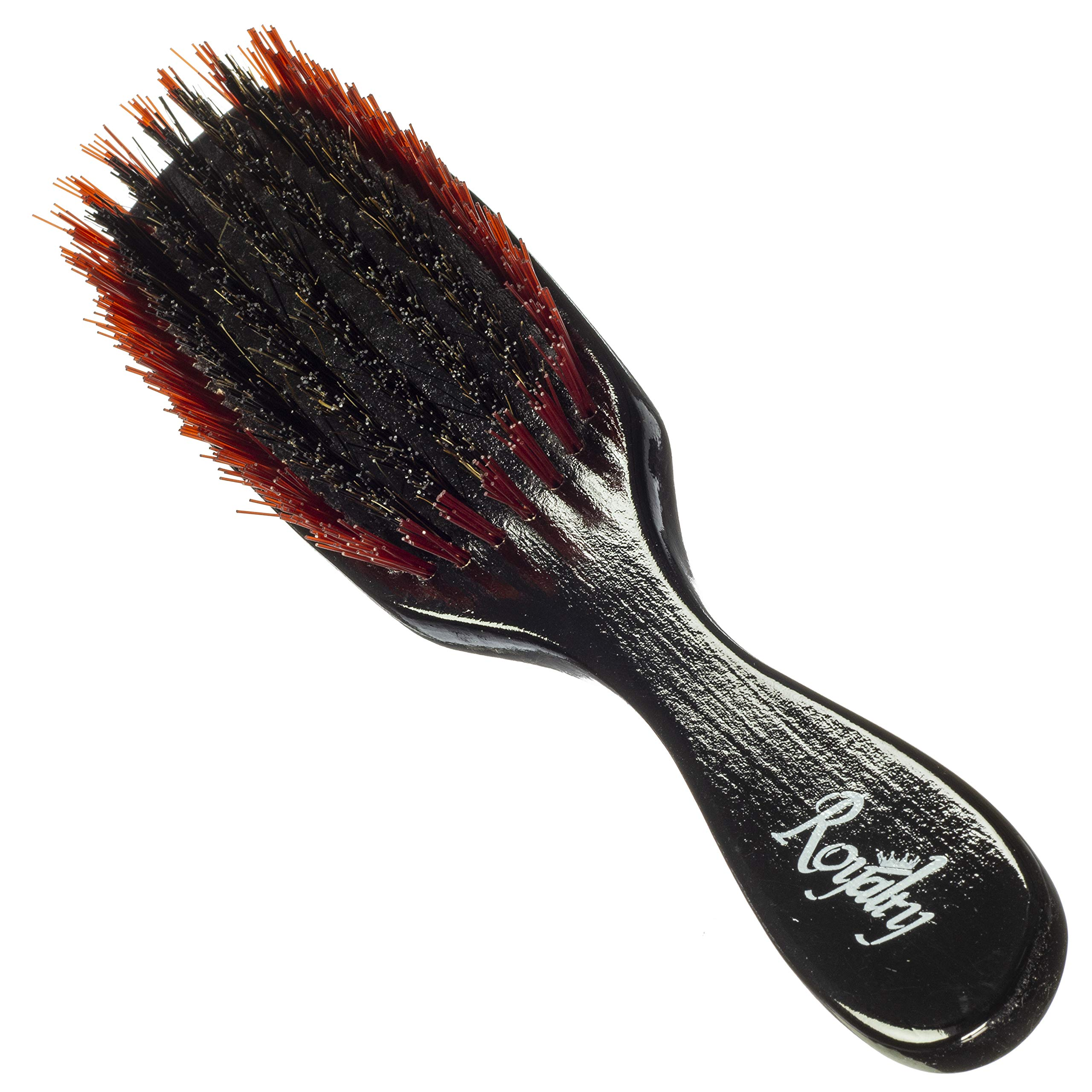 Royalty By Brush King Wave Brush #722- 7 row Medium Hard - Good 360 waves brush for wolfing - From the maker of Torino Pro