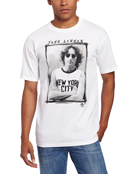Amazon.com  FEA Men s John Lennon Nyc Picture Frame Mens T-Shirt  Clothing 6cca605a2b3