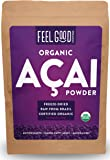 Organic ACAI Powder (Freeze-Dried) - 16oz Resealable Bag (1lb - 100% Raw Antioxidant Superfood Berry From Brazil - by Feel Good Organics …