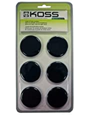 Koss Lot 6 Mousses pour Casque Koss Type Portapro Noir