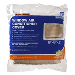 "Frost King 2-Piece Quilted Indoor Air Conditioner Cover, Large, fits units up to 20"" x 28"""