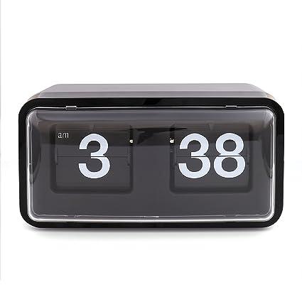 XINFANGXIU - Reloj de pared digital retro moderno con pantalla digital y mecánica, funciona con