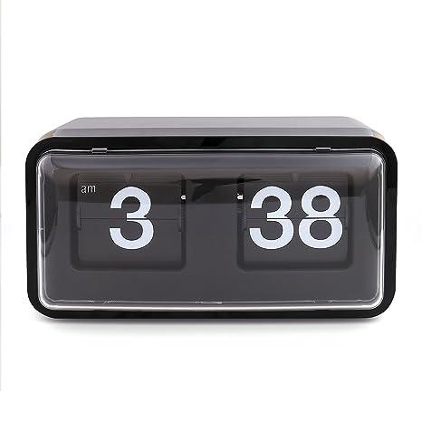 Flip Down página reloj de escritorio, xinfangxiu Vintage Retro Modern Digital Auto Flip Reloj de