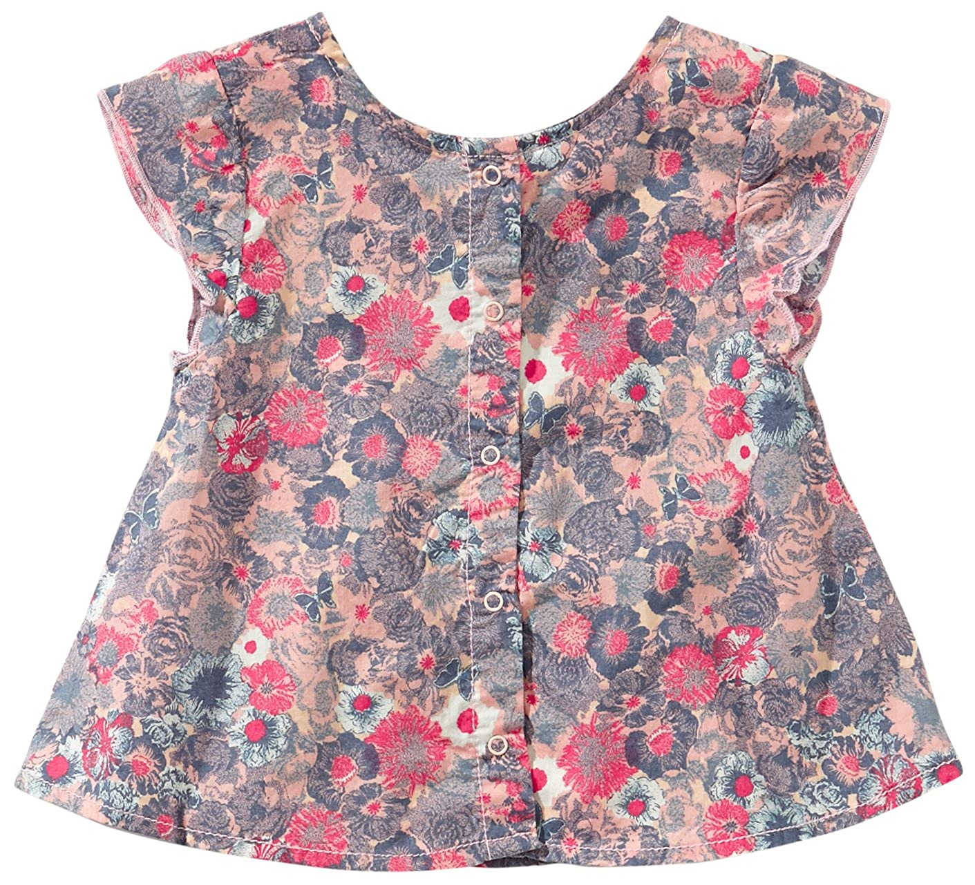 Mexx - Blusa con cuello redondo de manga corta para niña, talla L / 68 - talla alemana, color azul 404: Amazon.es: Ropa y accesorios