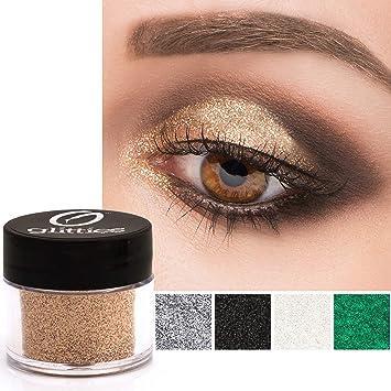 f87df08cdae GLITTIES COSMETICS Extra Fine Glitter Powder-Make Up Body Face Hair Lips &  Nails-