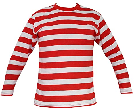 fb2e5224fef Rock Star Academy Mens Red and White Striped Long Sleeve Shirt (Medium)   Amazon.co.uk  Clothing