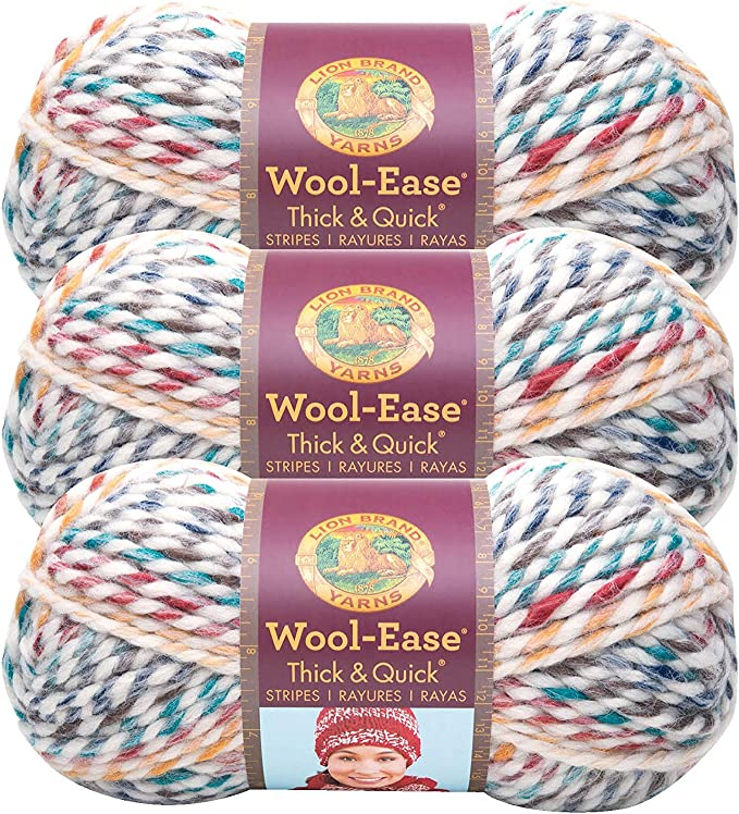 Pack of 3 skeins Cilantro Lion Brand Yarn 640-178 Wool-Ease Thick /& Quick