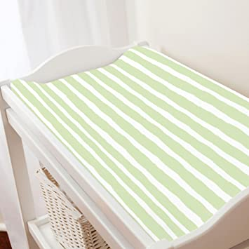 Waterproof Changing Pad Cover Set I Taupe Stripes