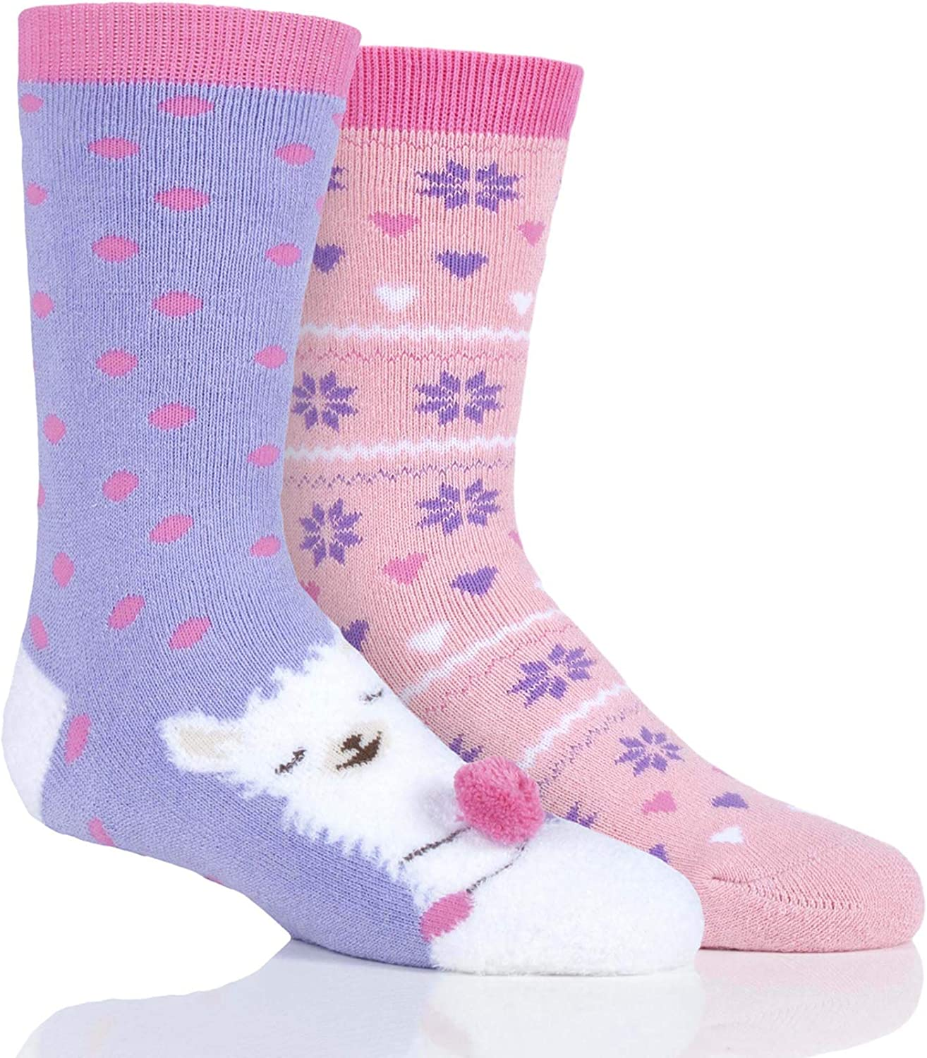 For Age 2 to 10 Kids Girls PINK WHITE BALLERINA Cotton Rich Tights TWIN PACK