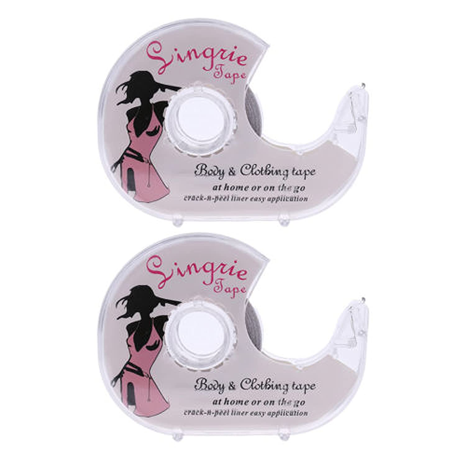 Hepe Jefe Double-sided Transparent Flash Fashion Lingerie Tape (2-Pack)
