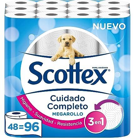 Scottex Megarollo Papel Higiénico, 48 Megarollos (equivale a 96 ...