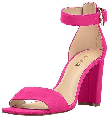 bc50683e11a Nine West Women s Nora Suede Dress Sandal Pink 9 ...
