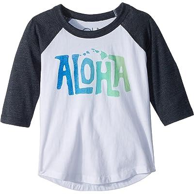 Chaser Kids Mens Vintage Jersey Aloha Raglan Tee (Toddler/Little Kids)