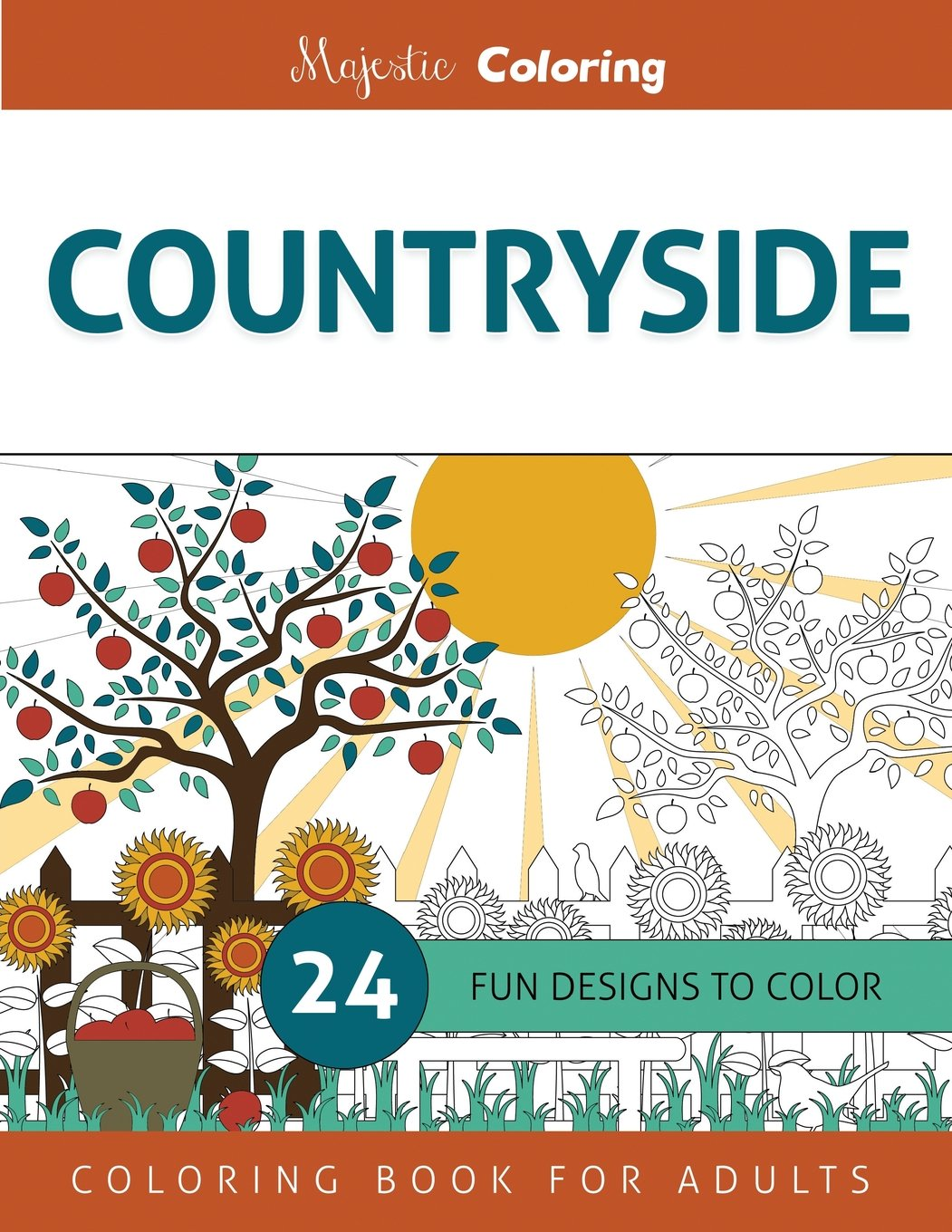 Countryside: Coloring Book for Adults