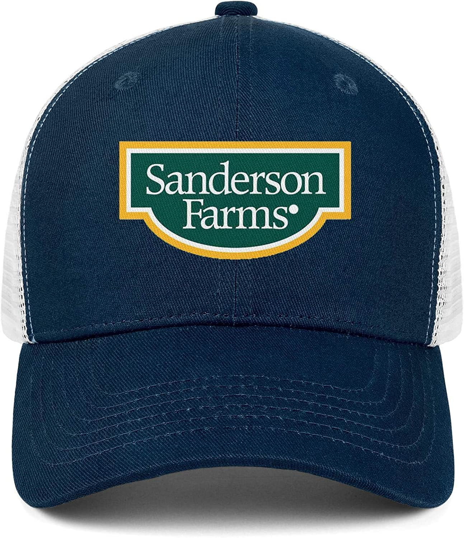 QWQD Sanderson Farms Inc Logo Mens Women Mesh Cool Cap Adjustable Snapback Dad Hat