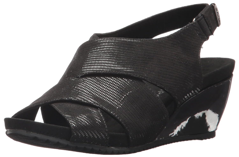 b61d0c4e0979d Amazon.com | Anne Klein AK Sport Women's Carolyn Fabric Wedge Sandal,  Black, 7.5 M US | Platforms & Wedges