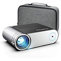 Vamvo 1080p Full HD przenośny projektor wideo 5500 Lux z Dolby, kino domowe, kompatybilny z HDMI/VGA/USB/laptopem/TV…