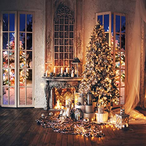 Xmas Tree Photography Background Portrait Photobooth Party Banner Decorations Photo Studio Props ZC Dawn Photography Backdrops Christmas