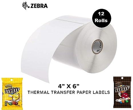 Amazon.com: Zebra - Etiquetas de papel de transferencia ...