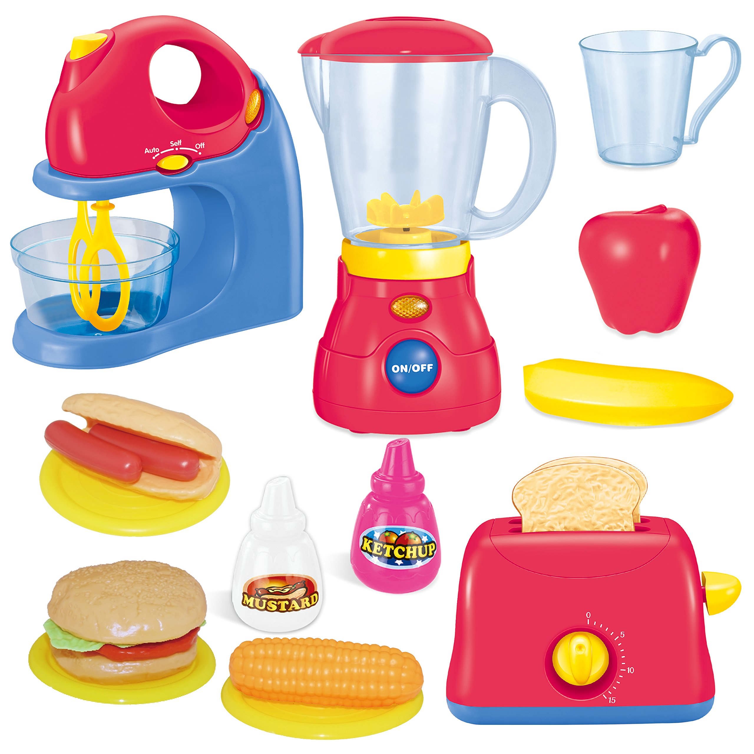 JOYIN Assorted Kitchen Appliance Toys with Mixer, Blender and Toaster Play Kitchen Accessories by JOYIN