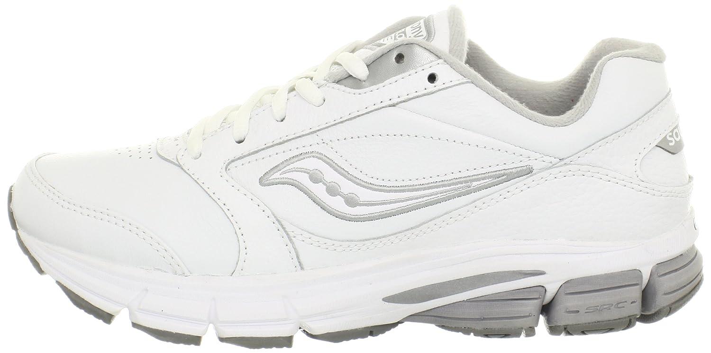 Saucony Women's Echelon LE2 Walking Shoe B00AO40QVA 5 B(M) US|White/Silver