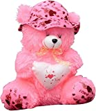 EMUTZ Garg Teddy Bear with Cap-40 Cm (Pink)