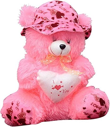 Buy Emutz Garg Teddy Bear With Cap 40 Cm Pink Online At Low Prices