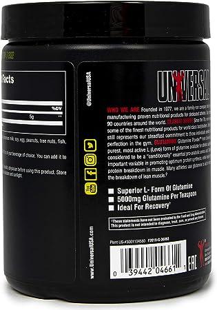Universal Nutrition Glutamine Standard - 300 gr: Amazon.es ...
