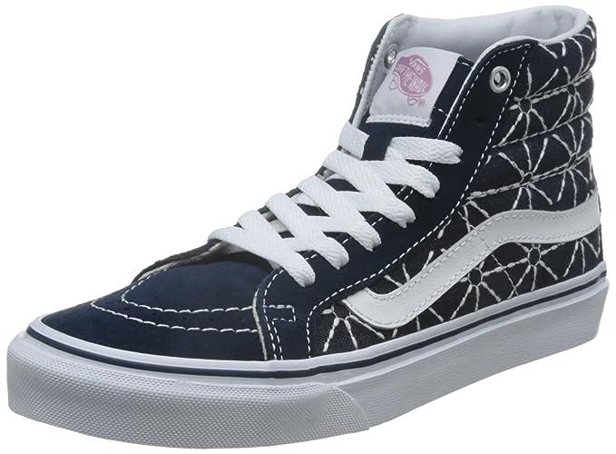 c88da9f06f Vans Sk8-Hi Slim Quilted Denim Dress Blues   Zephyr High-Top Canvas  Skateboarding