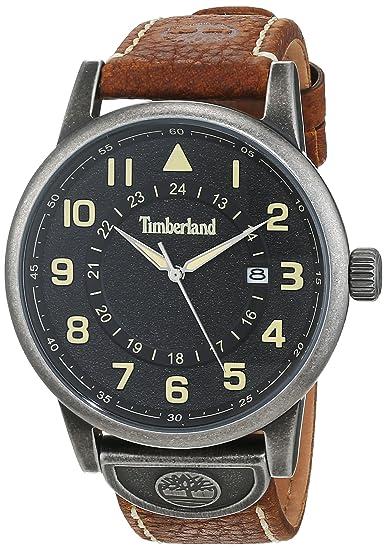 Timberland Reloj Analógico para Hombre de Cuarzo con Correa en Cuero TBL15250JSQ.02: Amazon.es: Relojes