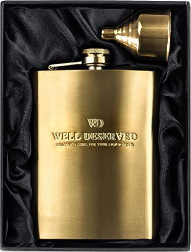 Simpler Life 8oz Gold Flask