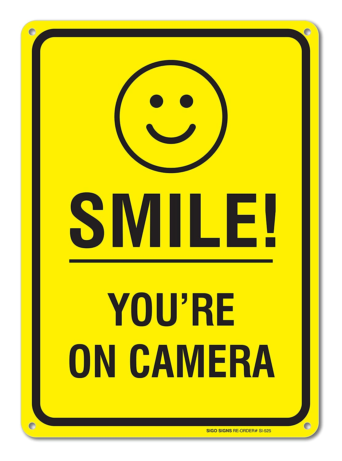 Smile Youre on Camera Video Surveillance Sign 10 X 14 Rust Free – Signs & Symbols Invitation Cards