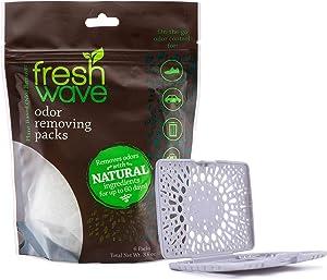 Fresh Wave Odor Eliminating & Deodorizing Packs, Bag of 6 + Bonus Fresh Pod Case
