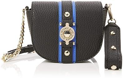 8948206d71 Amazon.com: Versace EE1VSBBF5 EMAG 899+202 Black/Blue Shoulder Bag ...
